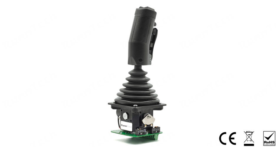 RunnTech Dual 10 Volt Proportional Industrial Joystick with 10k Centre Tap Potentiometers