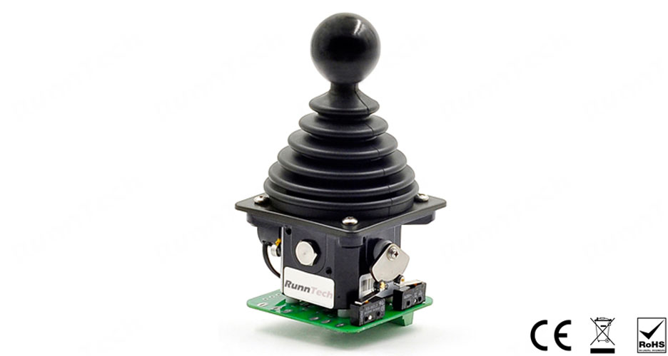 RunnTech Dual 5V Analog Output Potentiometer Joystick with Ball Shape Grip for Electrical Proportional Control