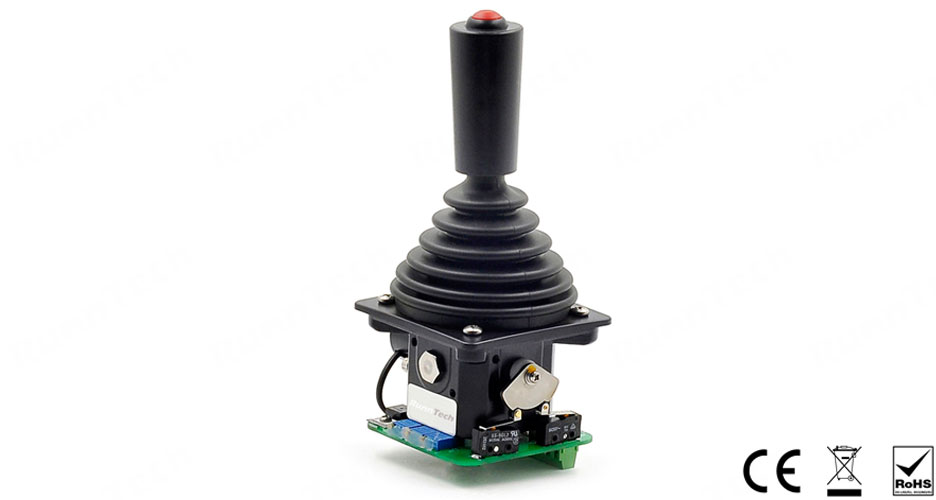 RunnTech RT100 Series Single-axis Industrial Joystick with Center Tapped Potentiometer