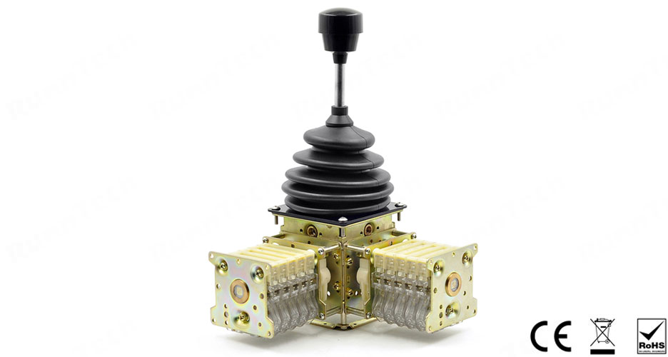 RunnTech Dual Axis 4 Steps Self-centering All Direction Movement Crane Control Joystick
