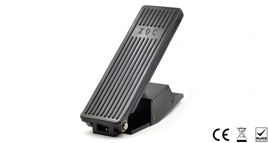 RunnTech Floor Mounted Proportional Accelerator Pedal with 1 Normally Opened Switch for Forklift Trucks