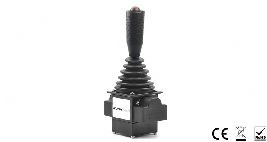 RunnTech Industrial Single-axis Self-centering Hall Effect Joystick for Proportional Control