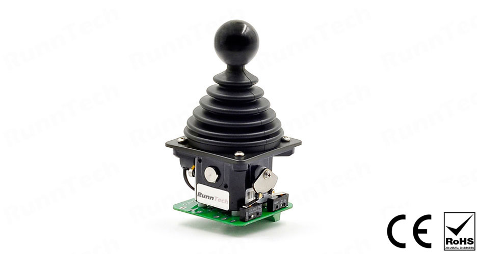 RunnTech Single Axis Joystick with 3 NO Directional Contacts and 2×2.5K Potentiometer