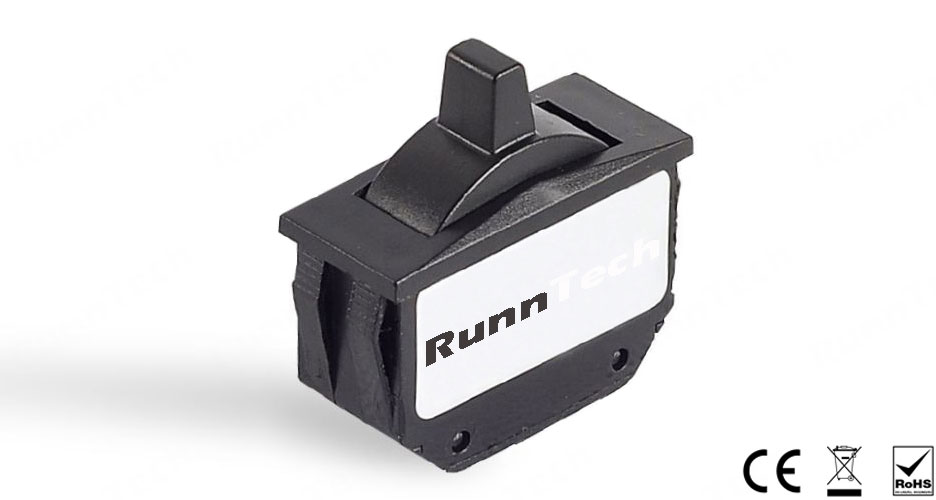 RunnTech W100 Series Self-centering Single-axis Hall Effect Proportional Thumbwheel